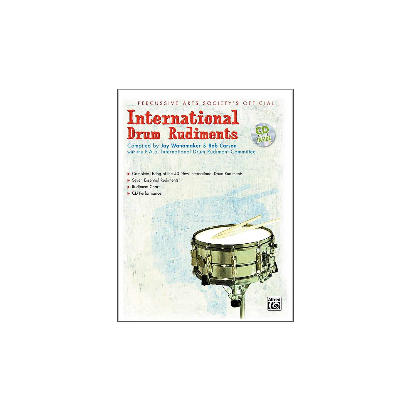 Alfred International Drum Rudiments Book with CD thumbnail