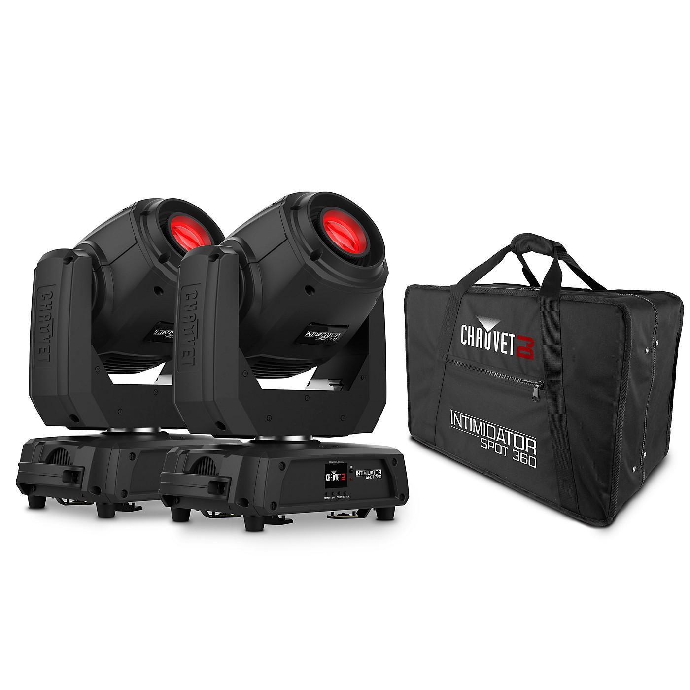 CHAUVET DJ Intimidator Spot 360 LED Spotlight (Pair) with CHS-360 Case thumbnail