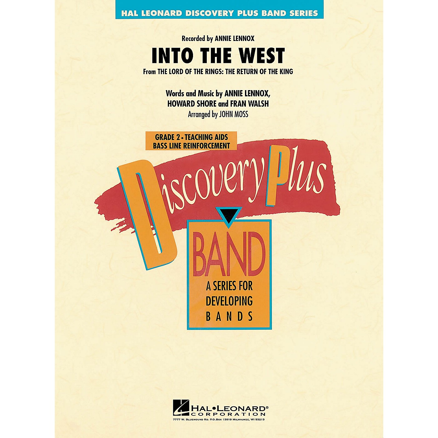 Hal Leonard Into the West (from Lord of the Rings: The Return of the King) - Discovery Plus Level 2 arranged by Moss thumbnail
