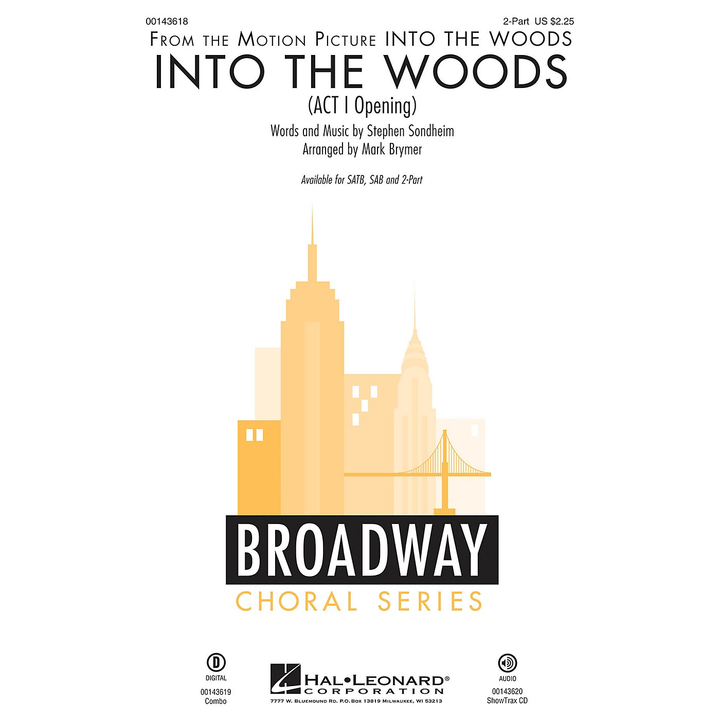Hal Leonard Into the Woods (Act I Opening) 2-Part arranged by Mark Brymer thumbnail
