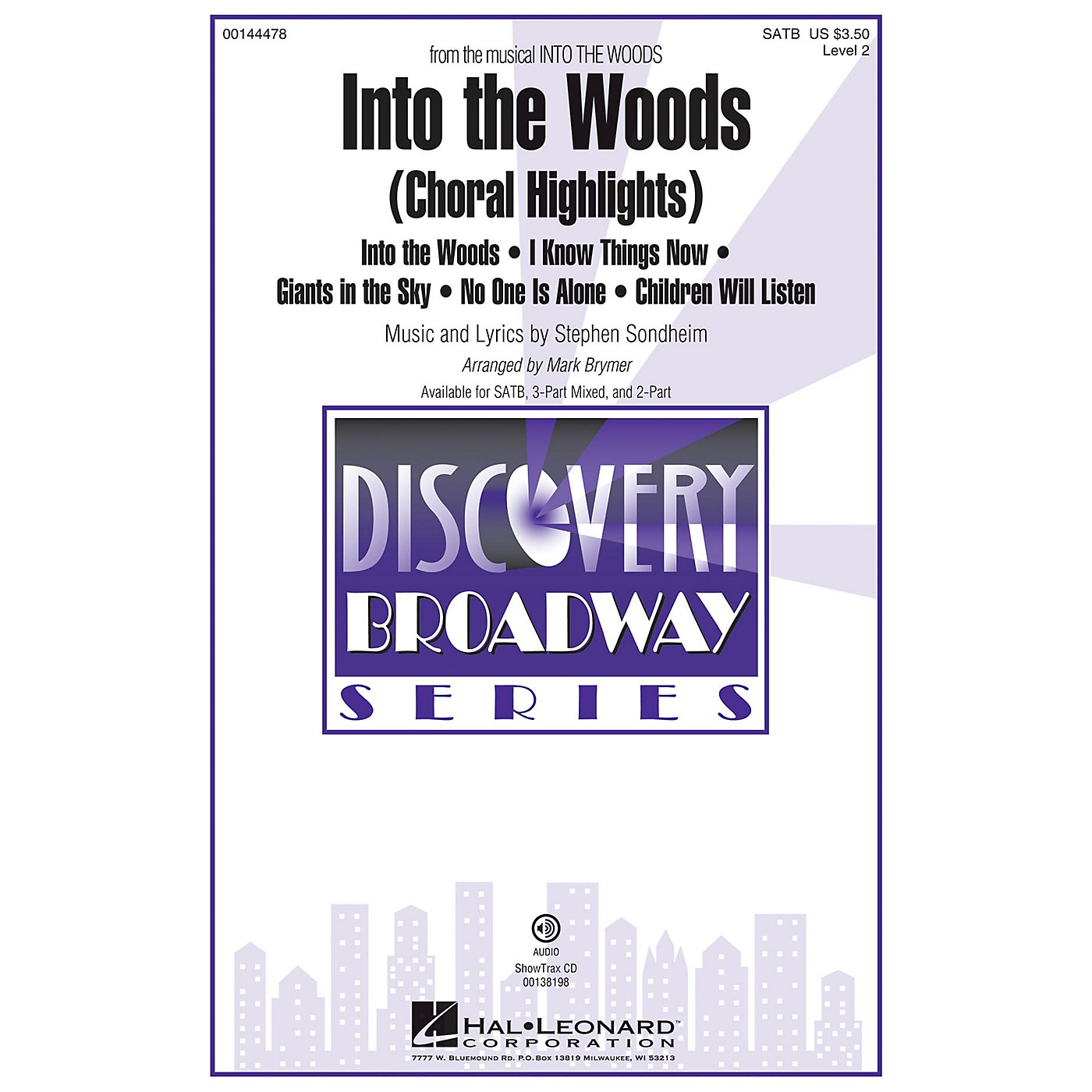 Hal Leonard Into the Woods (Choral Highlights Discovery Level 2) SATB arranged by Mark Brymer thumbnail