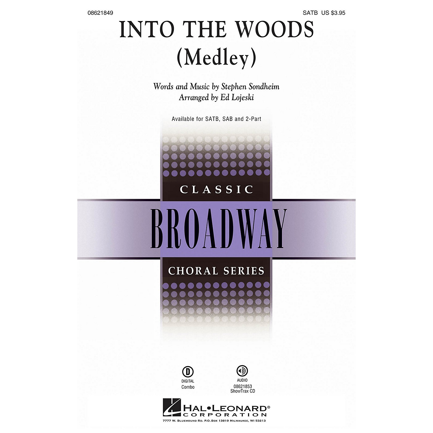 Hal Leonard Into the Woods (Medley) SAB Arranged by Ed Lojeski thumbnail