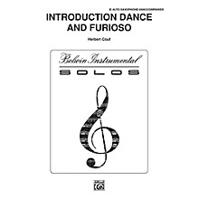 Alfred Introduction, Dance and Furioso for Alto Sax By Couf Book