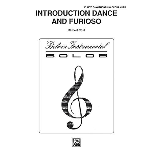 Alfred Introduction, Dance and Furioso for Alto Sax By Couf Book thumbnail
