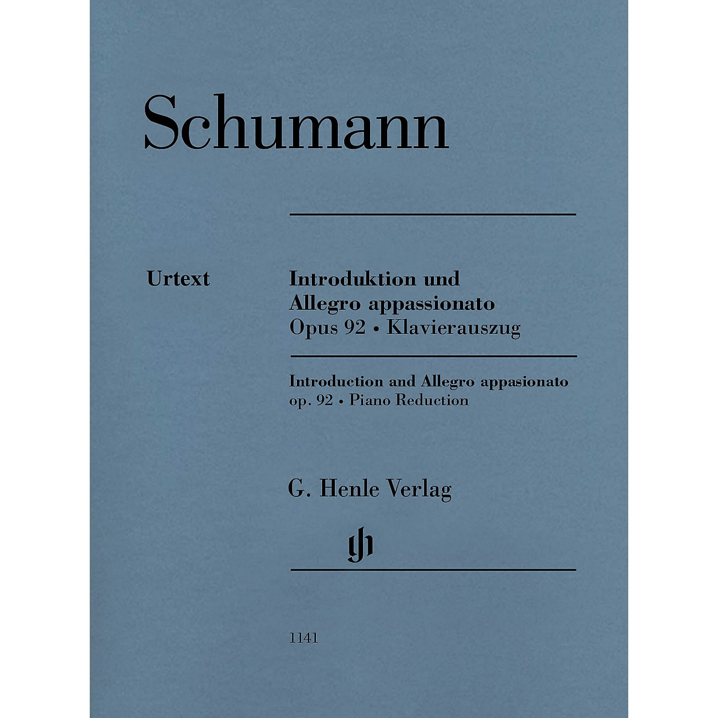 G. Henle Verlag Introduction and Allegro Appassionato for Piano and Orchestra, Op. 92 Henle Music Softcover by Schumann thumbnail