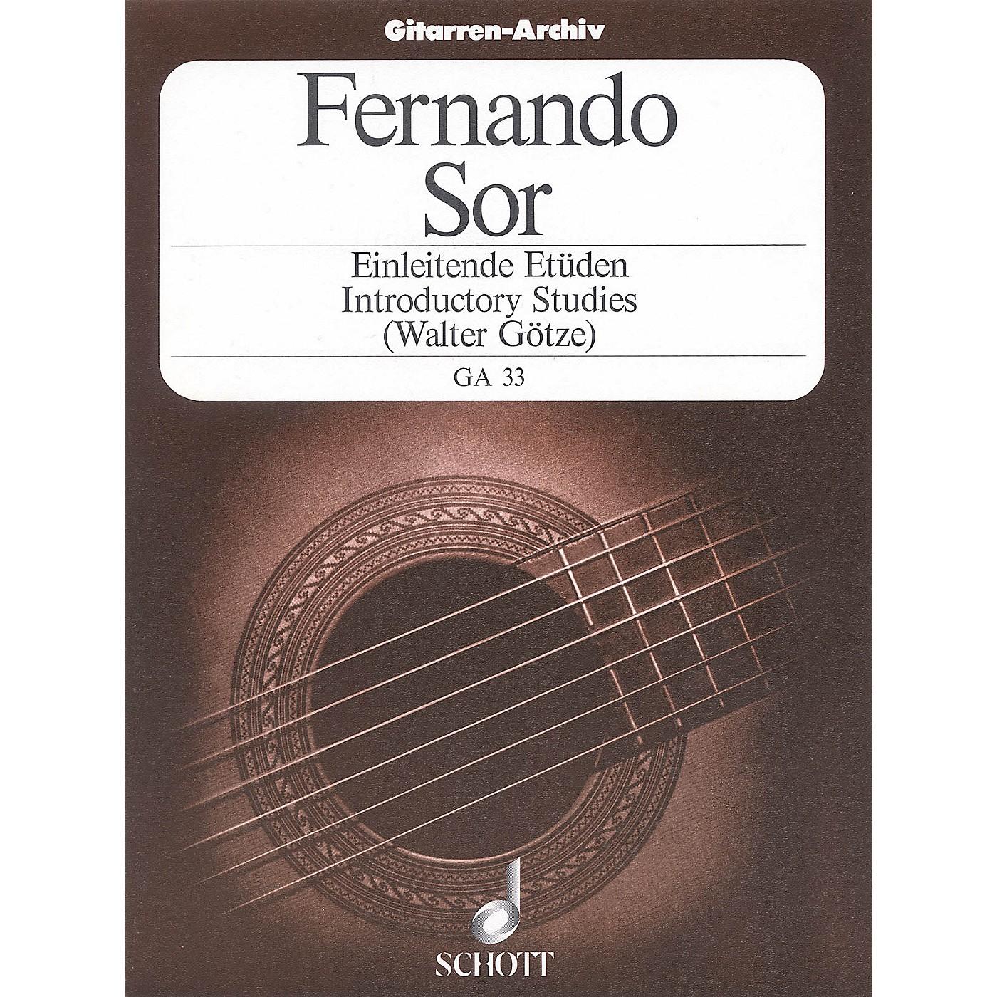 Schott Introductory Etudes, Op. 60 (Guitar Solo) Schott Series thumbnail