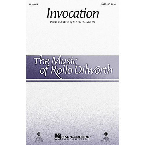 Hal Leonard Invocation CHOIRTRAX CD Composed by Rollo Dilworth thumbnail