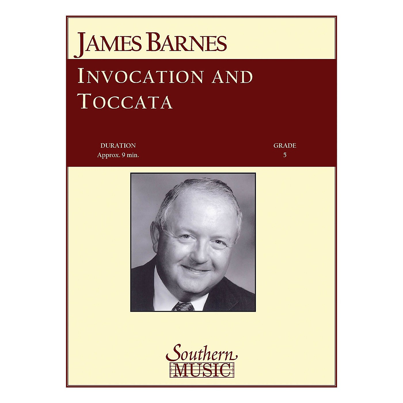 Southern Invocation and Toccata Concert Band Level 5 Composed by James Barnes thumbnail