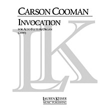 Lauren Keiser Music Publishing Invocation for Alto Flute and Organ LKM Music Series Composed by Carson Cooman