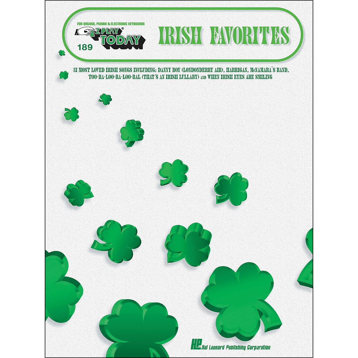 Hal Leonard Irish Favorites E-Z Play 189 thumbnail