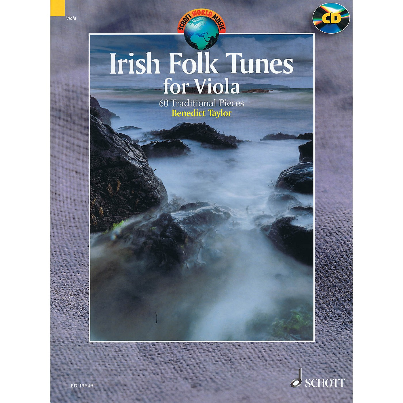 Schott Irish Folk Tunes for Viola (60 Traditional Pieces) String Series Softcover with CD by Benedict Taylor thumbnail