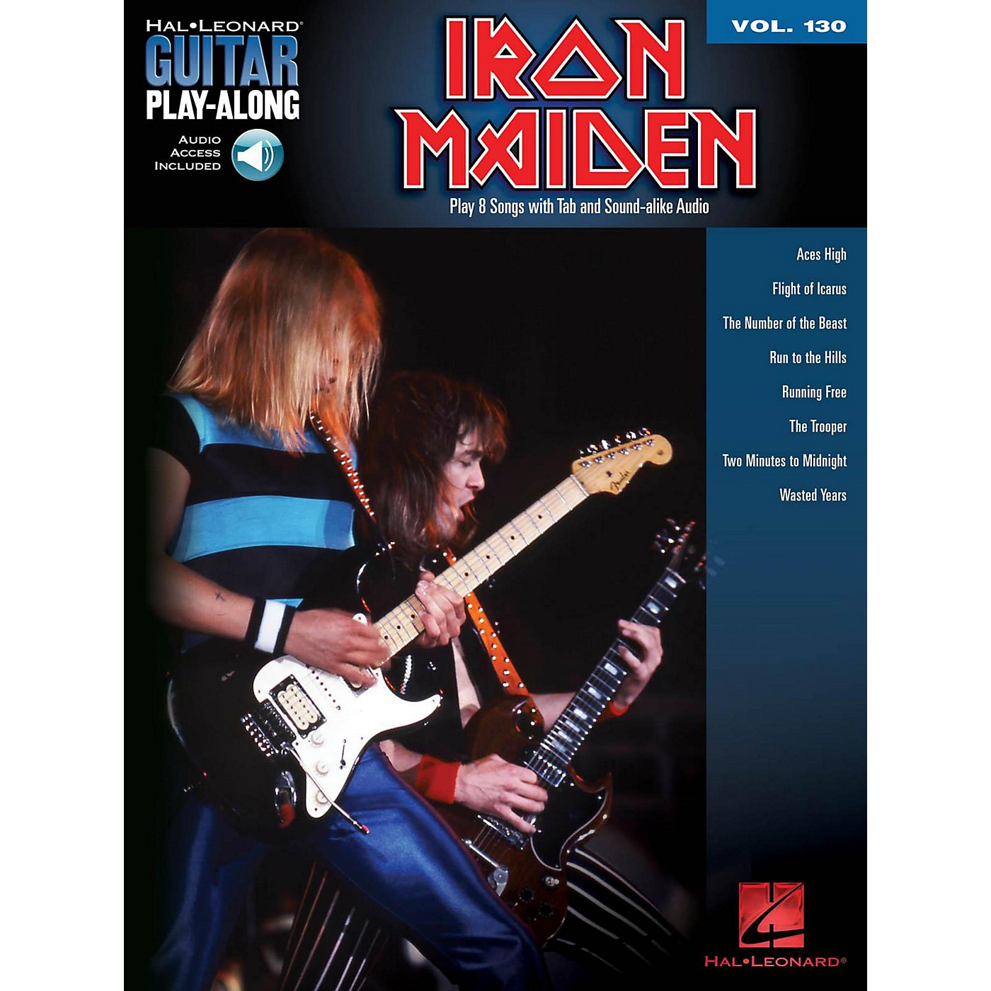 Hal Leonard Iron Maiden - Guitar Play-Along Volume 130 (Book/Online Audio) thumbnail
