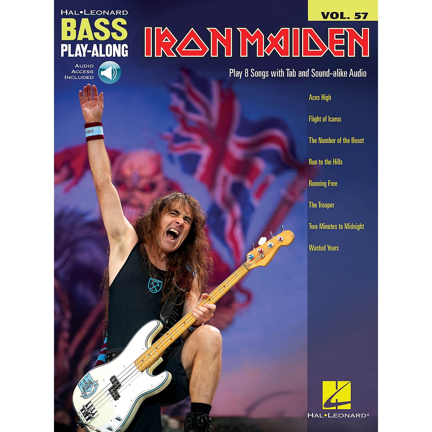 Hal Leonard Iron Maiden Bass Play-Along Volume 57 Book/Audio Online thumbnail