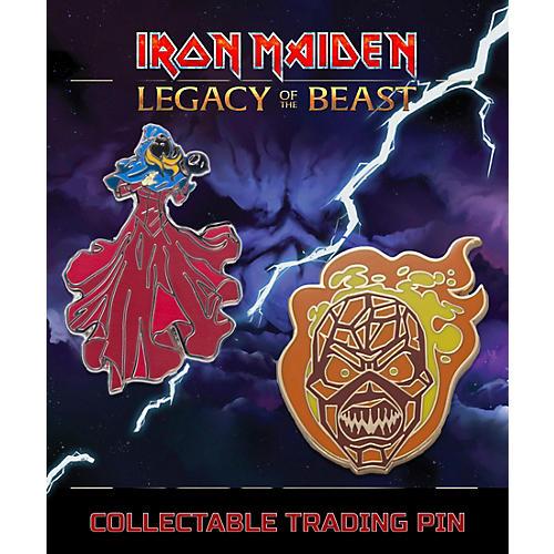 Entertainment Earth Iron Maiden Set #3 Clairvoyant & Wicker Man Lapel Pin 2-Pack thumbnail