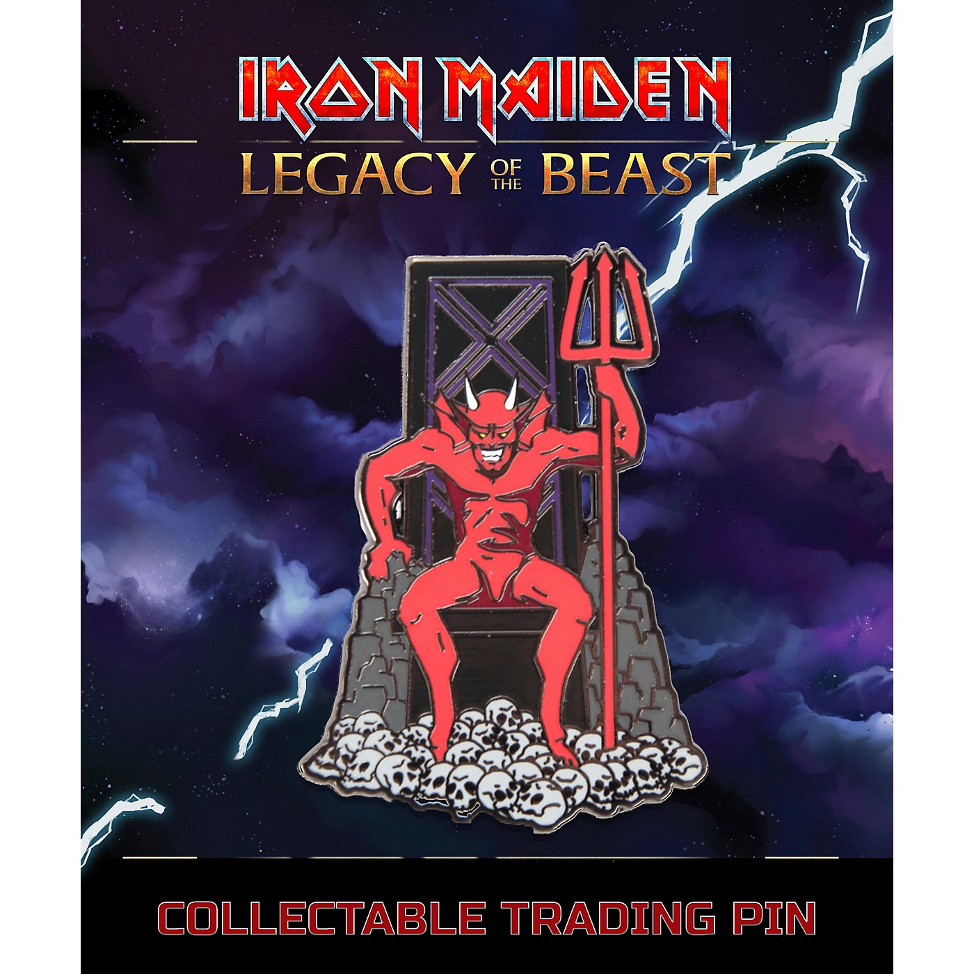 Entertainment Earth Iron Maiden The Beast Lapel Pin thumbnail