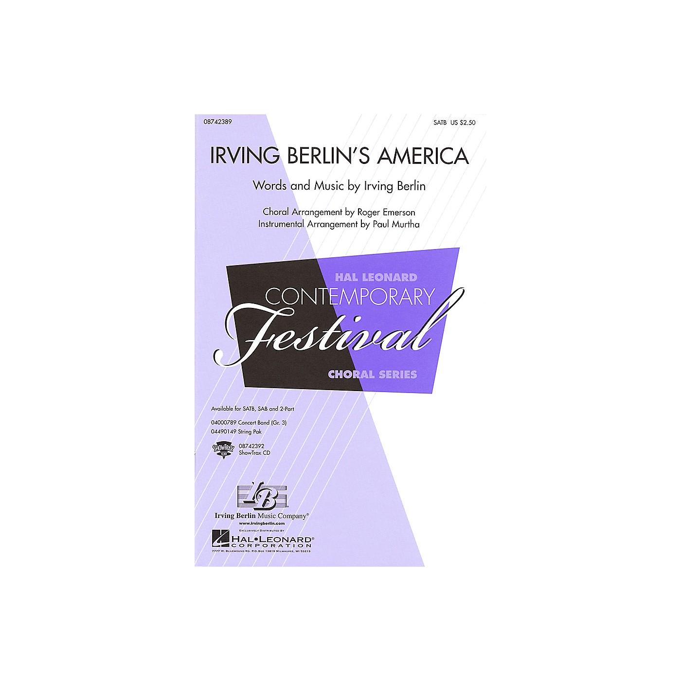 Hal Leonard Irving Berlin's America (Medley) SATB arranged by Roger Emerson thumbnail