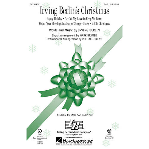 Hal Leonard Irving Berlin's Christmas Medley Sab Arranged By Mark Brymer Thumbnail: Unforgettable Sheet Music Irving Berlin At Alzheimers-prions.com