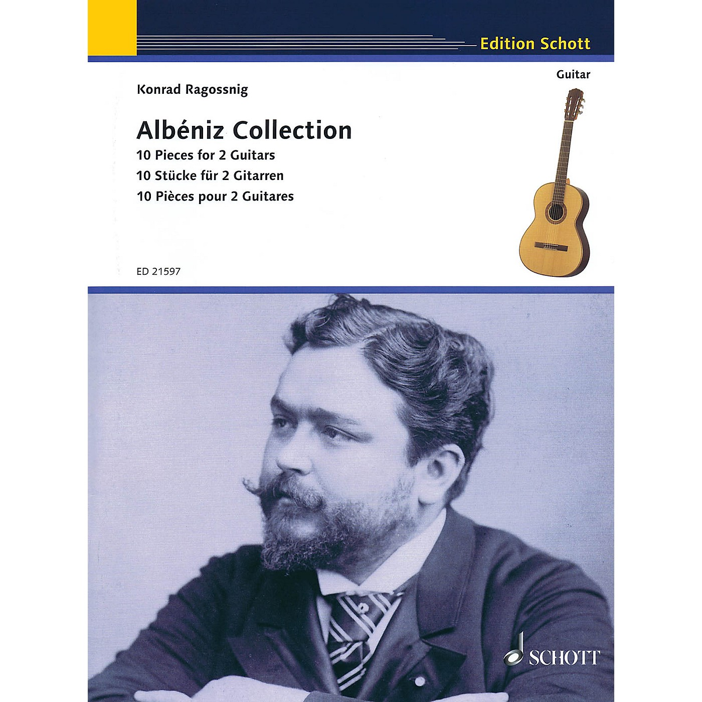 Schott Isaac Albéniz - Albéniz Collection (10 Pieces for Two Guitars Performance Score) Guitar Series Softcover thumbnail
