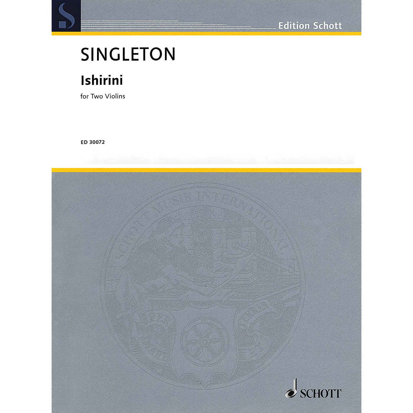 Schott Music Corporation New York Ishirini (Two Violins Two Performance Scores) String Series Softcover thumbnail