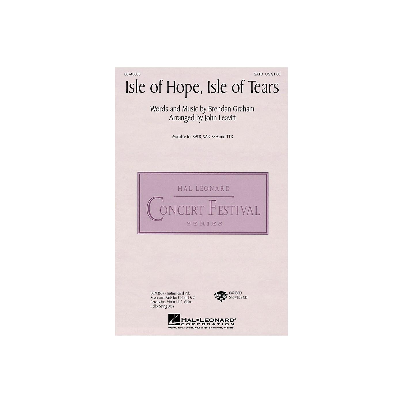 Hal Leonard Isle of Hope, Isle of Tears SAB by The Irish Tenors Arranged by John Leavitt thumbnail