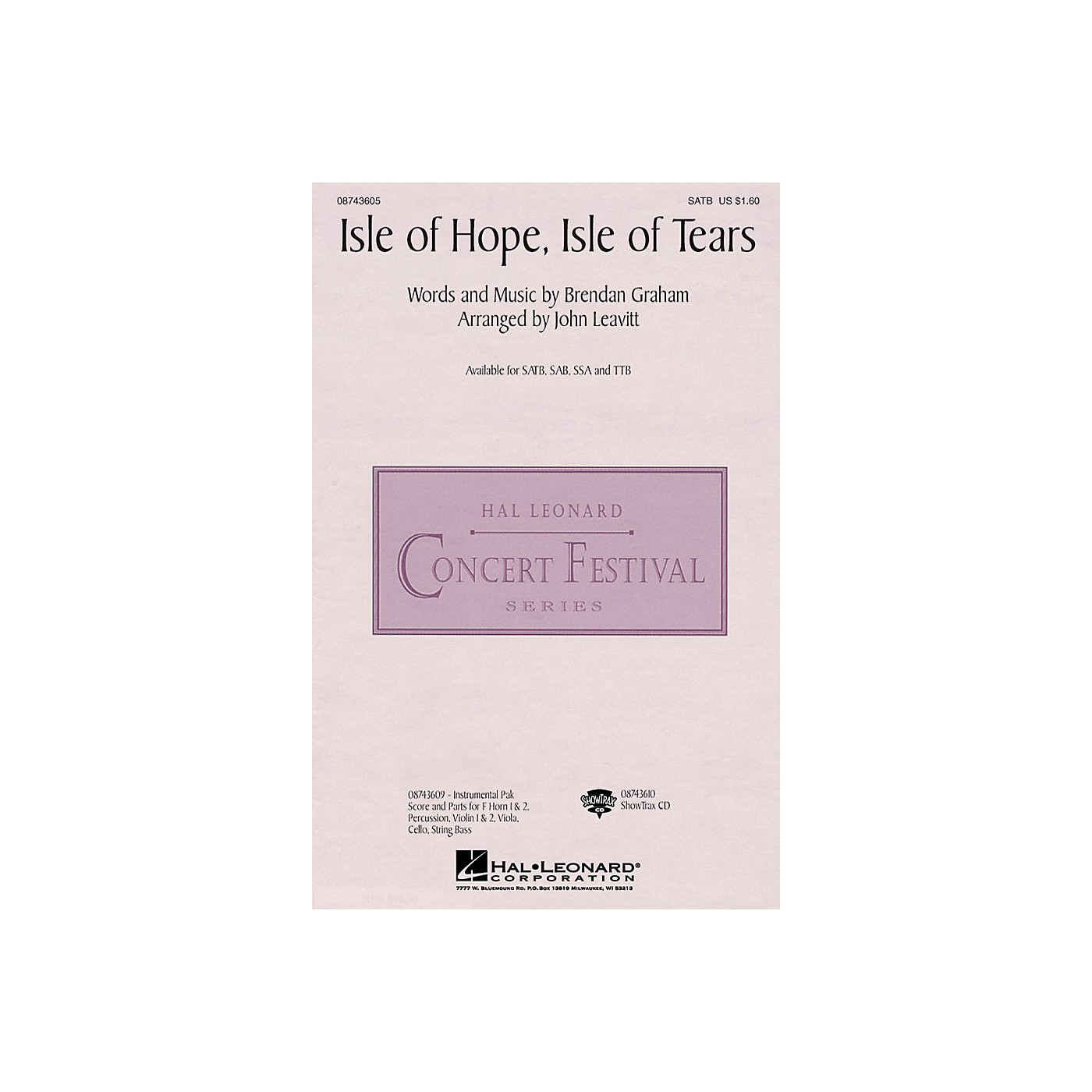 Hal Leonard Isle of Hope, Isle of Tears SATB by The Irish Tenors arranged by John Leavitt thumbnail