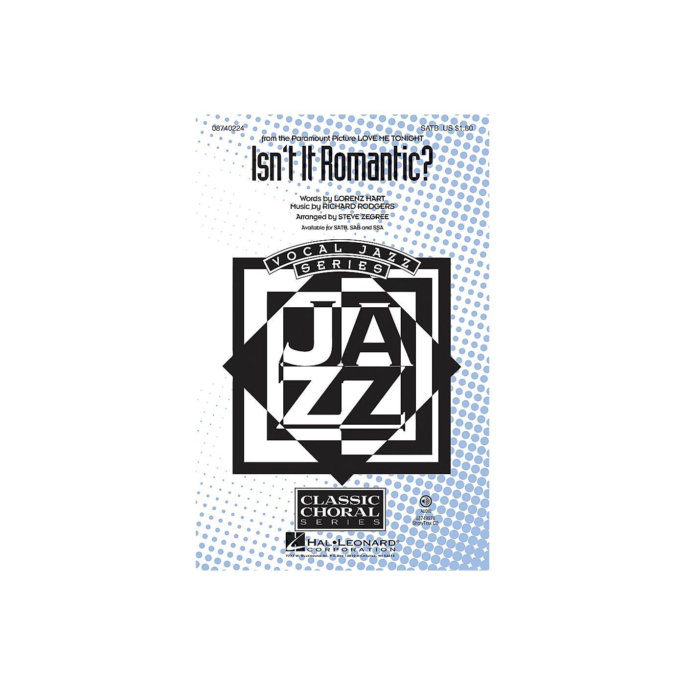 Hal Leonard Isn't It Romantic? SATB arranged by Steve Zegree thumbnail