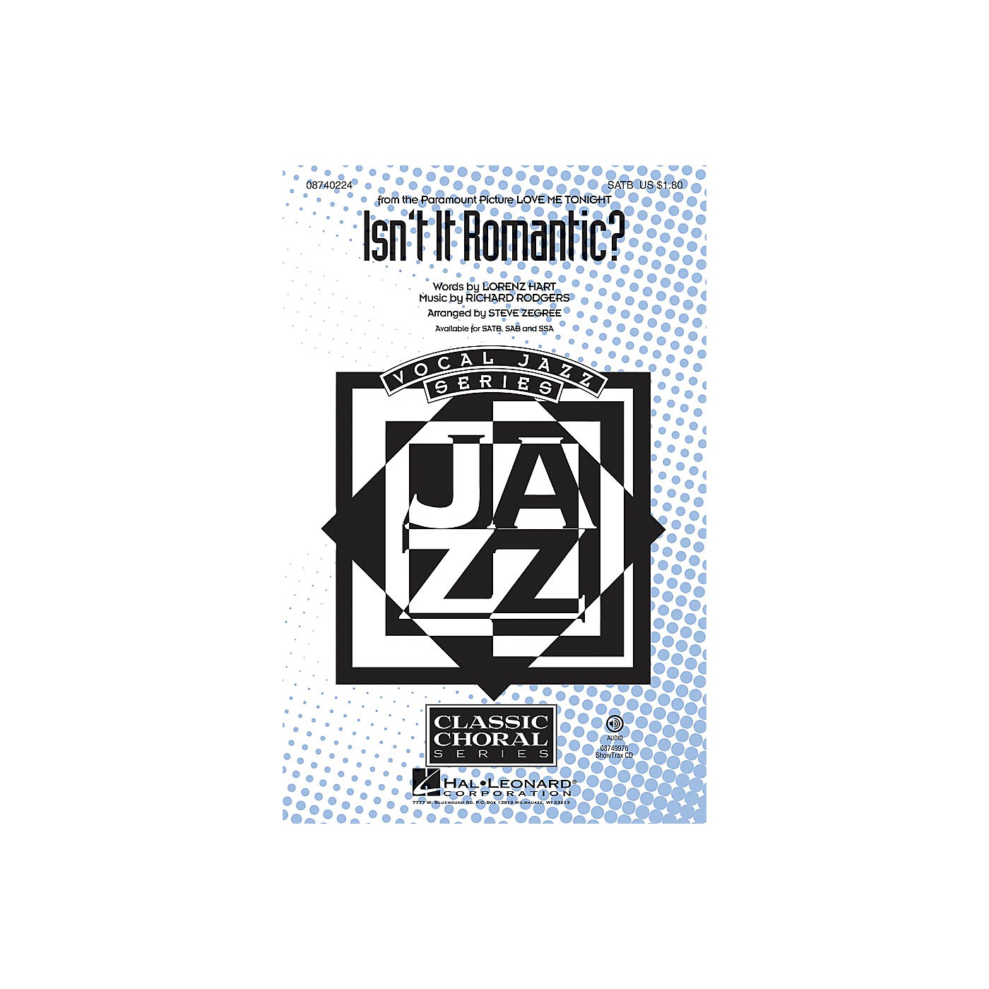 Hal Leonard Isn't It Romantic? ShowTrax CD Arranged by Steve Zegree thumbnail