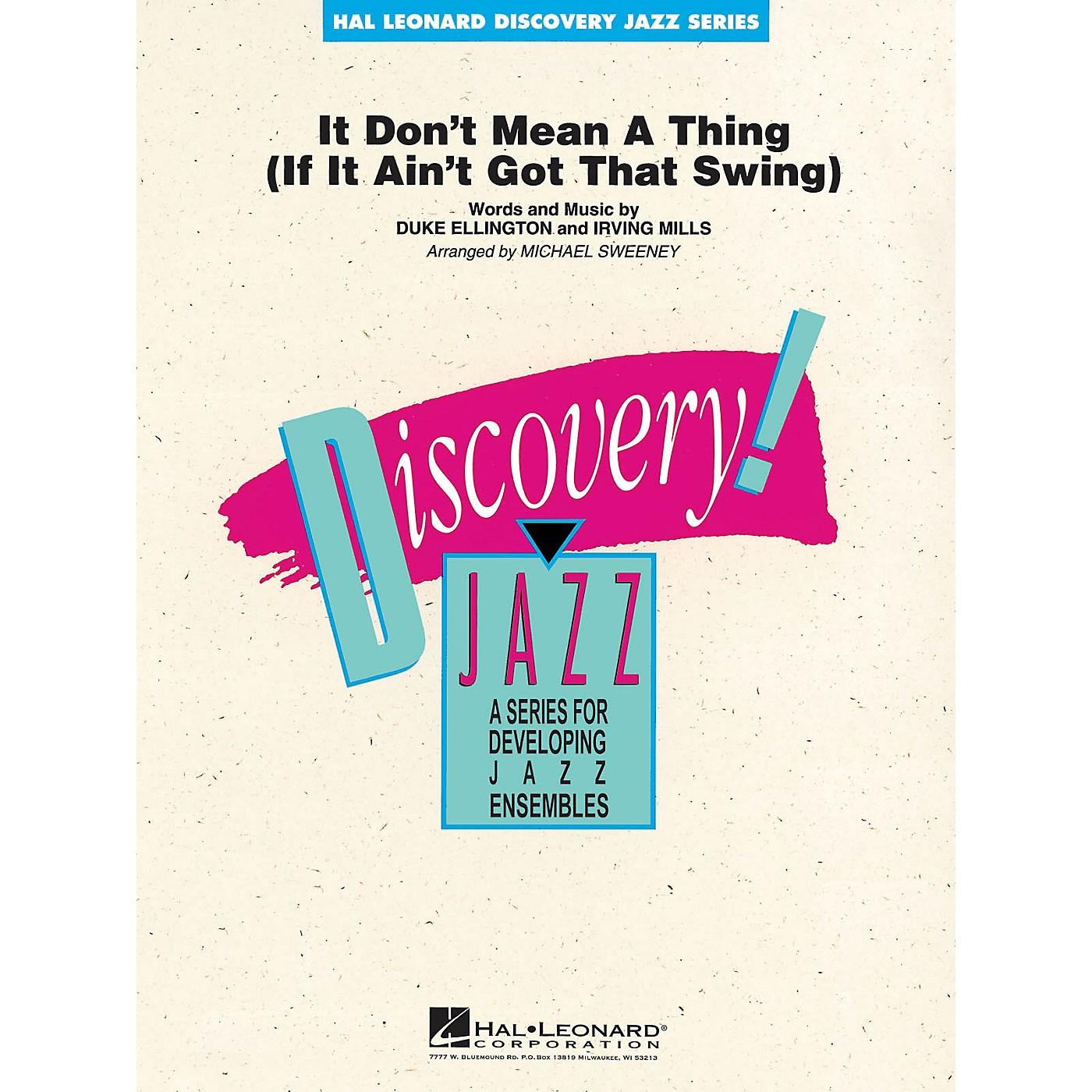 Hal Leonard It Don't Mean a Thing Jazz Band Level 1-2 by Duke Ellington Arranged by Michael Sweeney thumbnail