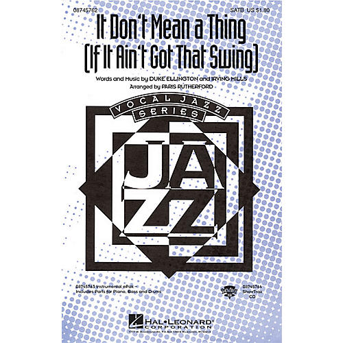 Hal Leonard It Don't Mean a Thing ShowTrax CD Arranged by Paris Rutherford thumbnail
