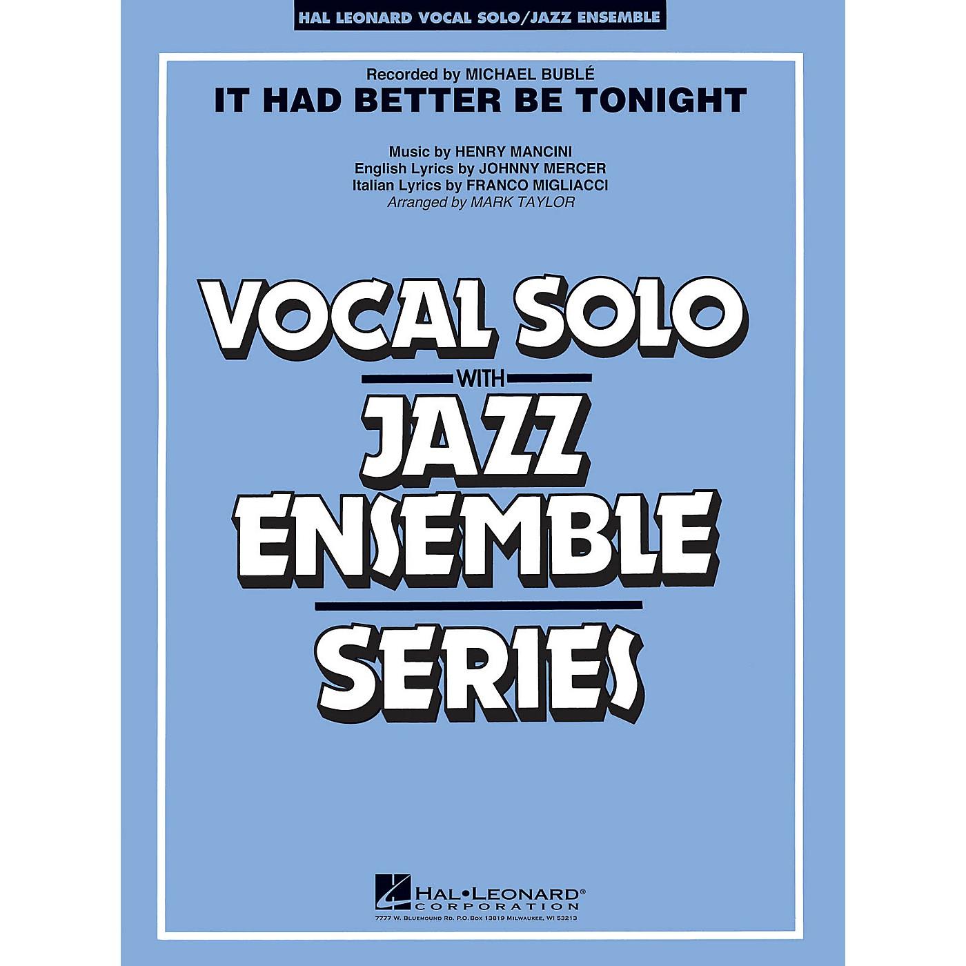 Hal Leonard It Had Better Be Tonight (Key: Gmi-Ami) Jazz Band Level 3-4 Composed by Henry Mancini thumbnail