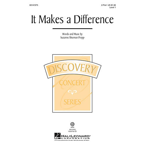 Hal Leonard It Makes a Difference (Discovery Level 1) 2-Part composed by Suzanne Sherman Propp thumbnail