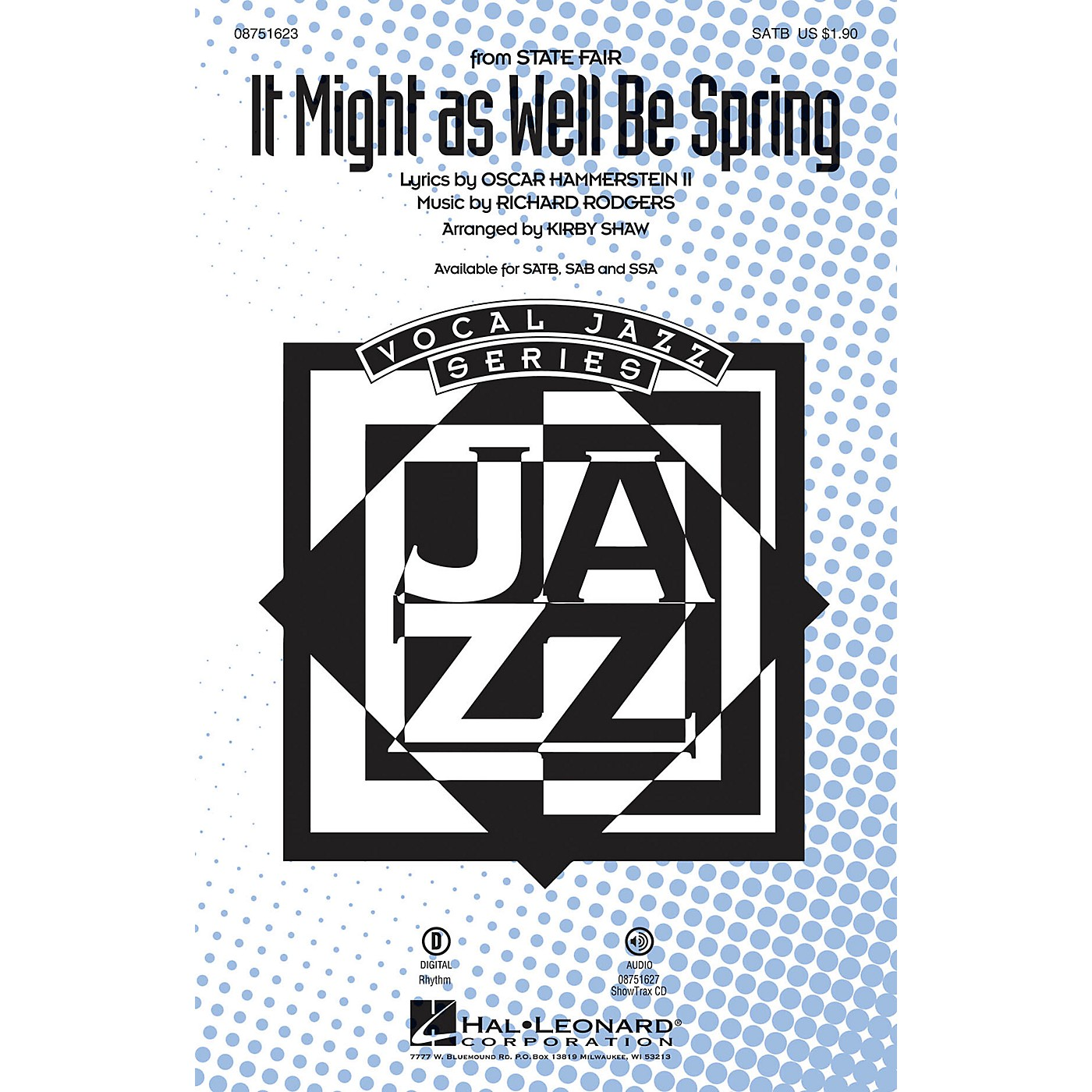 Hal Leonard It Might as Well Be Spring (from State Fair) SSA Arranged by Kirby Shaw thumbnail