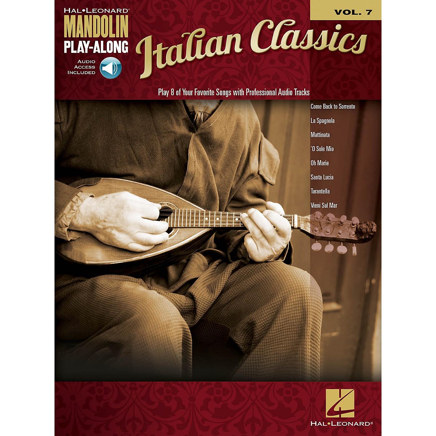 Hal Leonard Italian Classics (Mandolin Play-Along Volume 7) Mandolin Play-Along Series Softcover Audio Online thumbnail