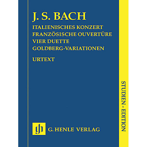 G. Henle Verlag Italian Concerto, French Overture, Four Duets, Goldberg Variations Henle Study Scores Series Softcover thumbnail