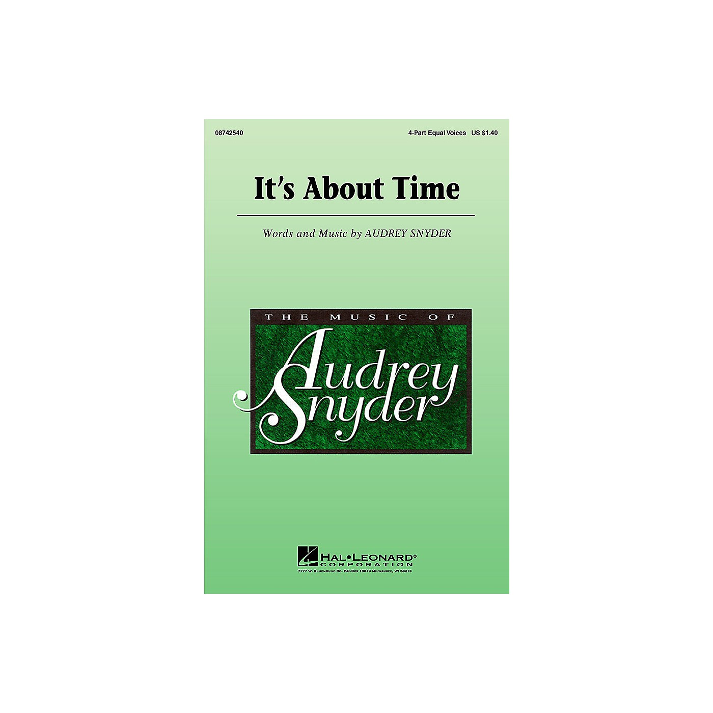 Hal Leonard It's About Time 4 Part Any Combination composed by Audrey Snyder thumbnail