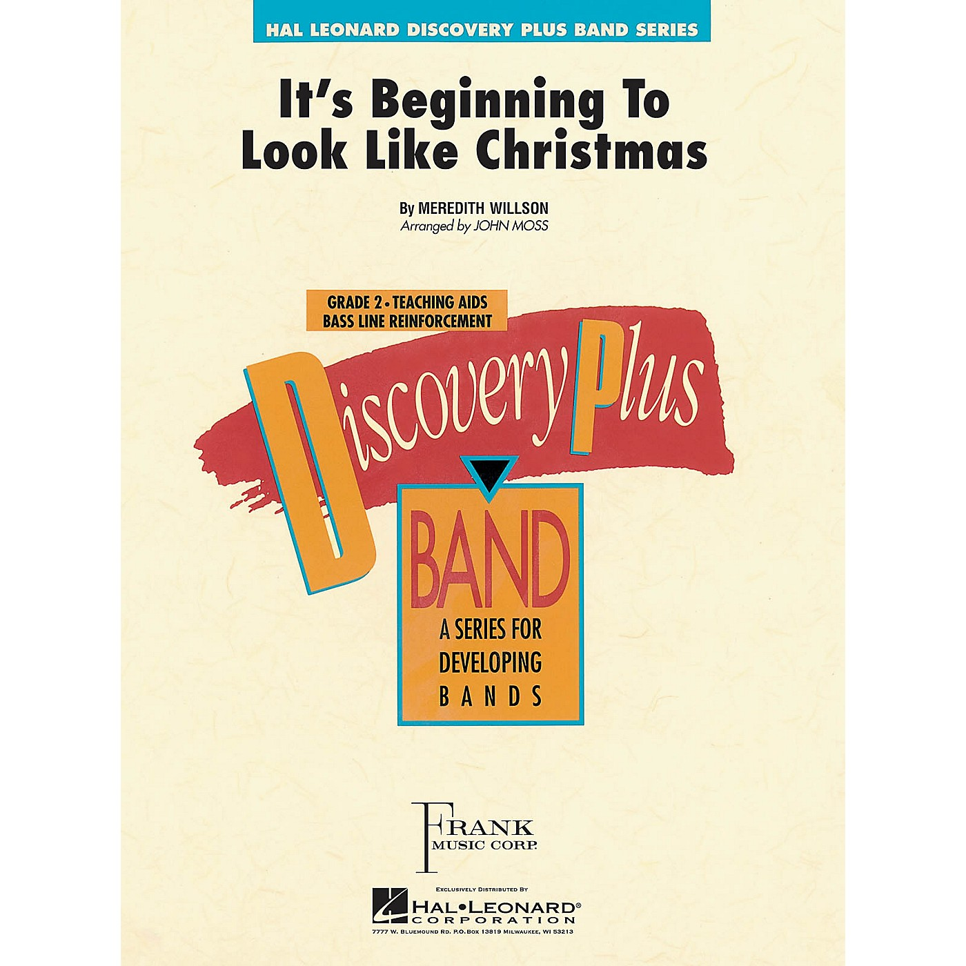Hal Leonard It's Beginning to Look Like Christmas - Discovery Plus Concert Band Series Level 2 arranged by John Moss thumbnail