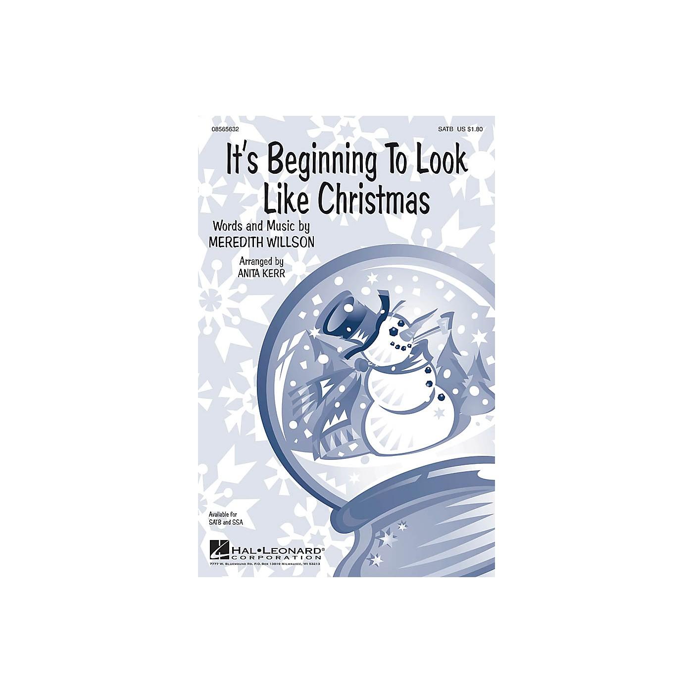 Hal Leonard It's Beginning to Look Like Christmas SATB arranged by Anita Kerr thumbnail