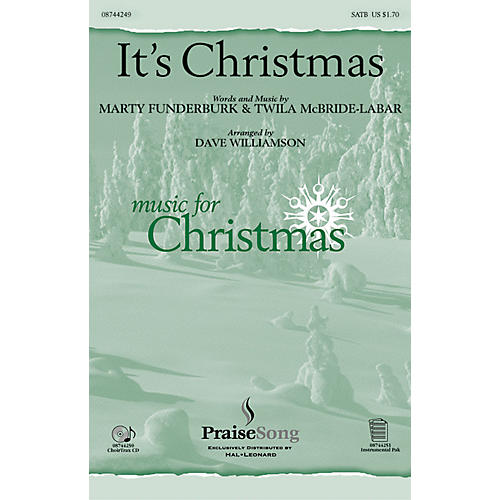 PraiseSong It's Christmas! SATB arranged by Dave Williamson thumbnail