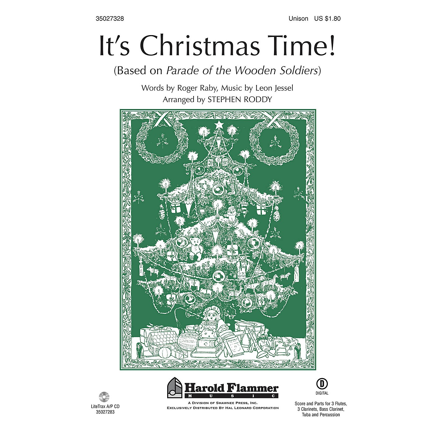 Shawnee Press It's Christmas Time! (from Parade of the Wooden Soldiers) Unison Treble arranged by Stephen Roddy thumbnail
