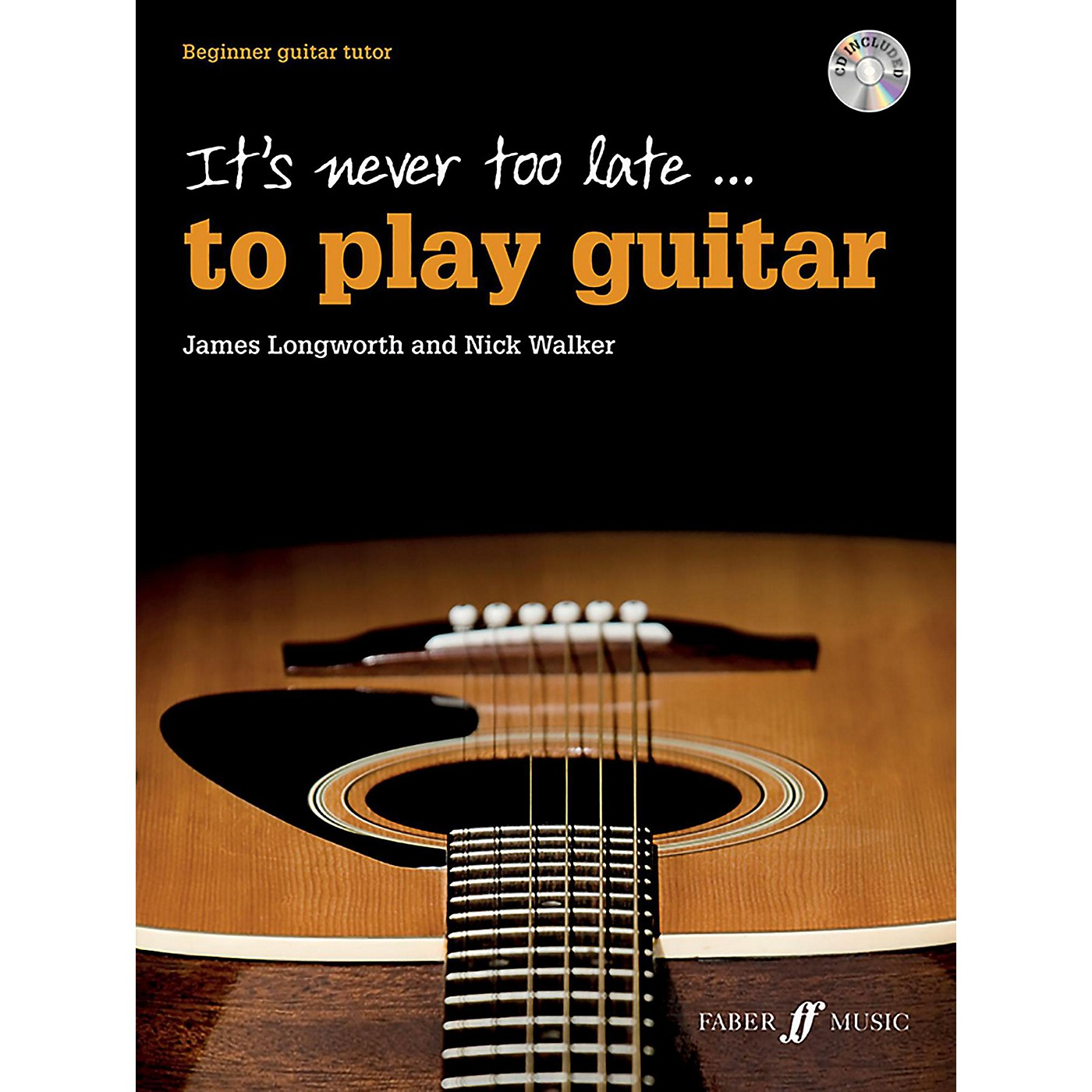 Alfred It's Never Too Late . . . to Play Guitar Book & CD Beginner thumbnail