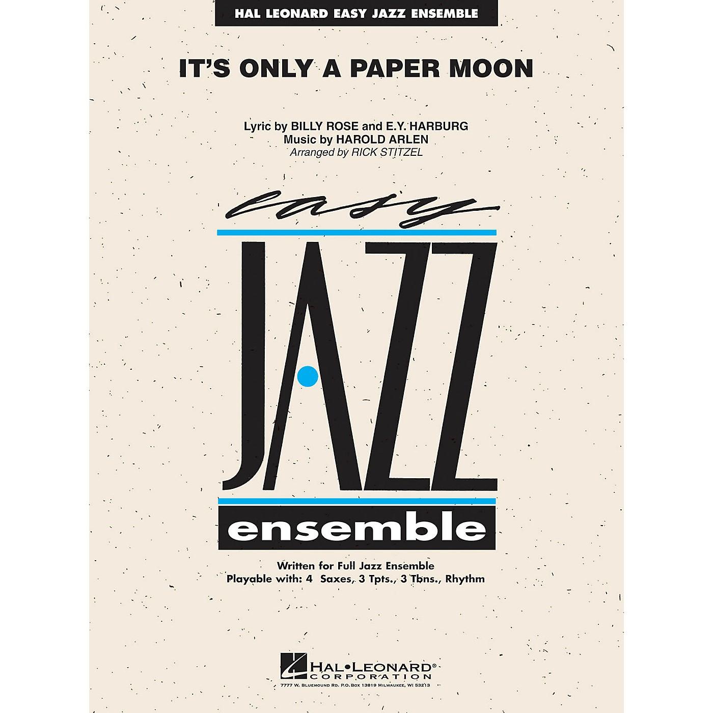 Hal Leonard It's Only a Paper Moon Jazz Band Level 2 Arranged by Rick Stitzel thumbnail