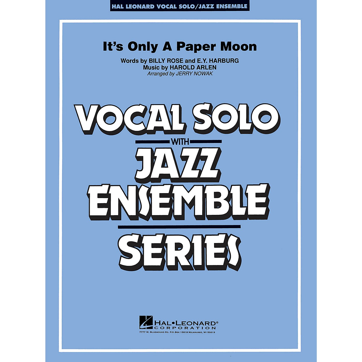 Hal Leonard It's Only a Paper Moon (Vocal Solo with Jazz Ensemble (Key: Eb)) Jazz Band Level 3-4 by Harold Arlen thumbnail