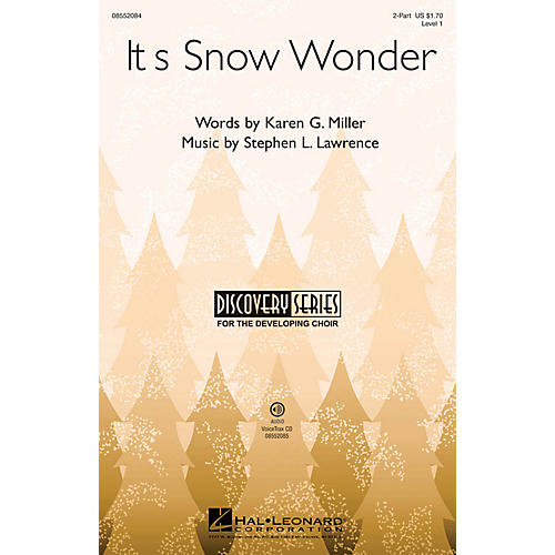 Hal Leonard It's Snow Wonder (Discovery Level 1) VoiceTrax CD Composed by Stephen Lawrence thumbnail