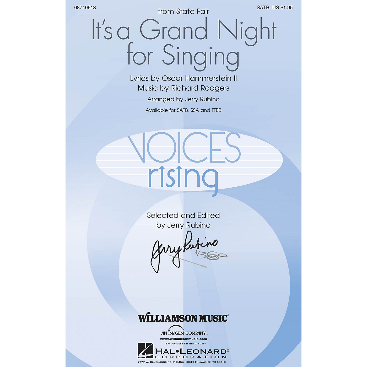 Williamson Music It's a Grand Night for Singing (SATB) SATB arranged by Jerry Rubino thumbnail