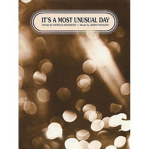 TRO ESSEX Music Group It's a Most Unusual Day Richmond Music ¯ Sheet Music Series thumbnail