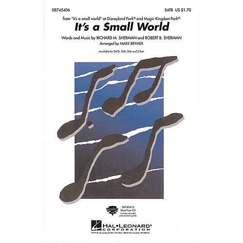 Hal Leonard It's a Small World SSA Arranged by Mark Brymer thumbnail