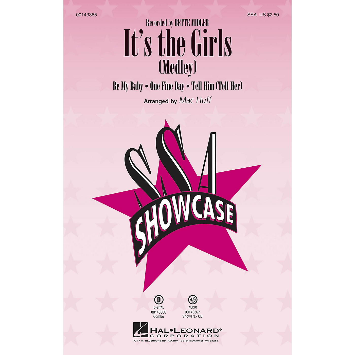 Hal Leonard It's the Girls (Medley) ShowTrax CD by Bette Midler Arranged by Mac Huff thumbnail