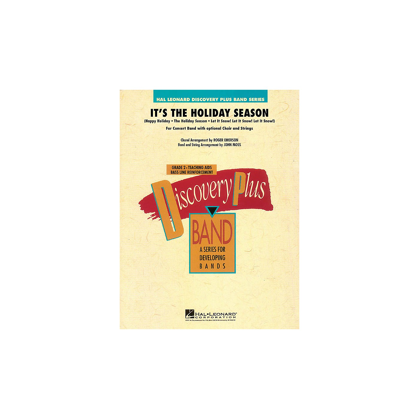 Hal Leonard It's the Holiday Season (for Band and Optional Choir) - Discovery Plus Band Level 2 by John Moss thumbnail