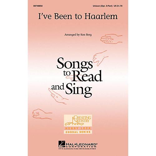 Hal Leonard I've Been to Haarlem Unison or optional 3-Part arranged by Ken Berg thumbnail