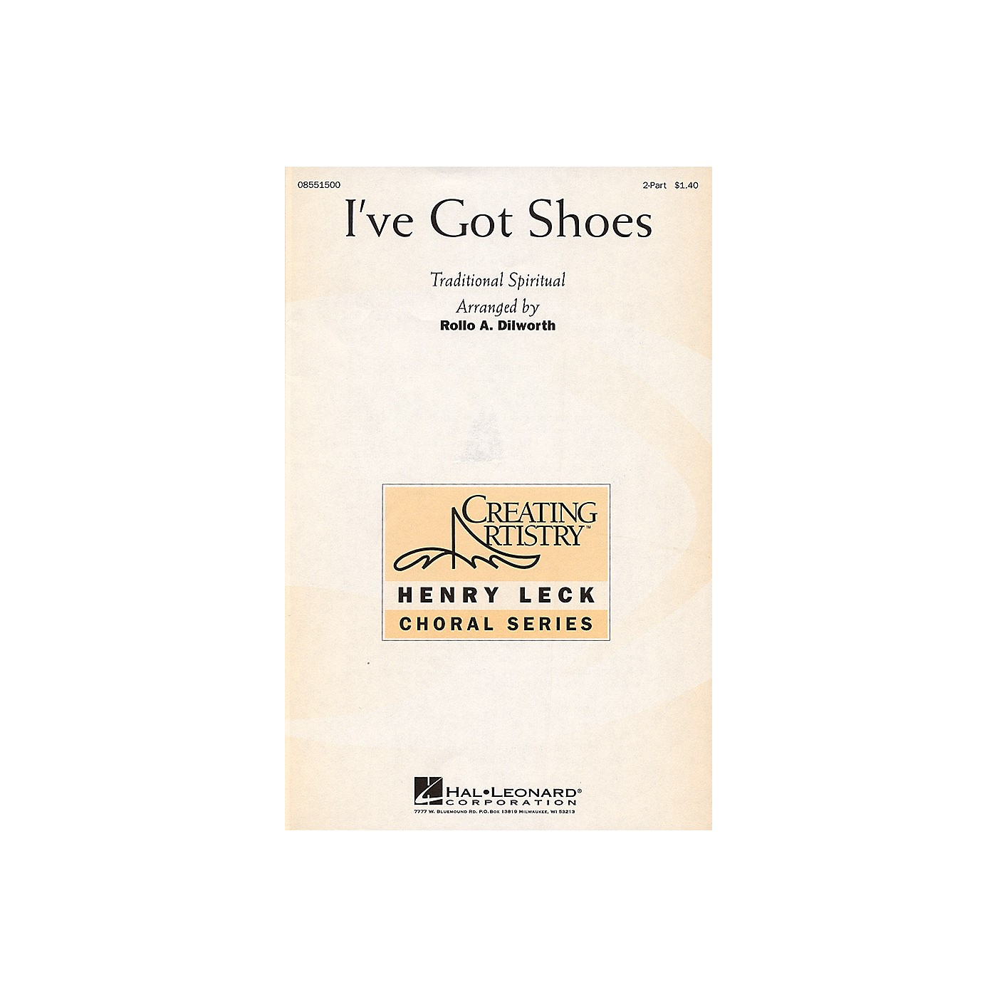 Hal Leonard I've Got Shoes 2-Part arranged by Rollo Dilworth thumbnail